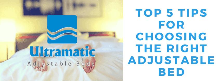 5 tips in choosing adjustable beds