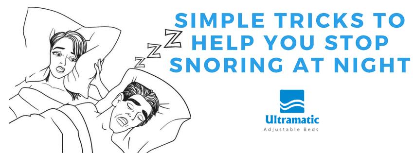 tricks to stop snoring