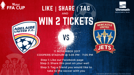 Win 2 Tickets to Adelaide United vs Newcastle Jets FFA Cup